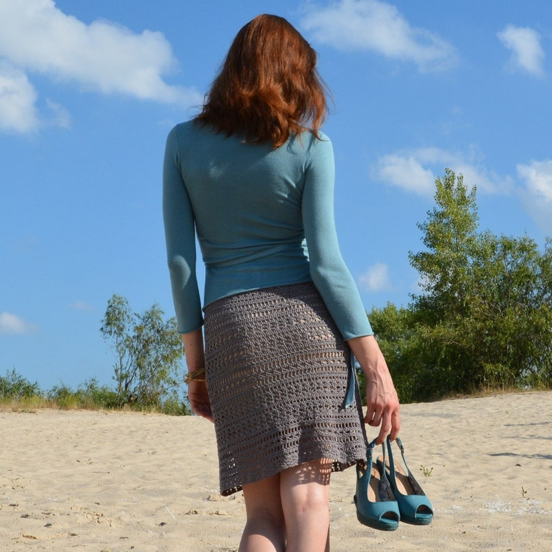 Beach crochet skirt PATTERN sizes S-2XL crochet TUTORIAL in image 0