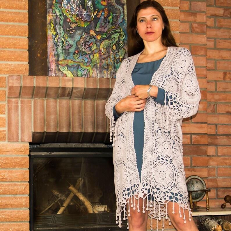 Crochet cardigan PATTERN sizes S-5XL written crochet image 0