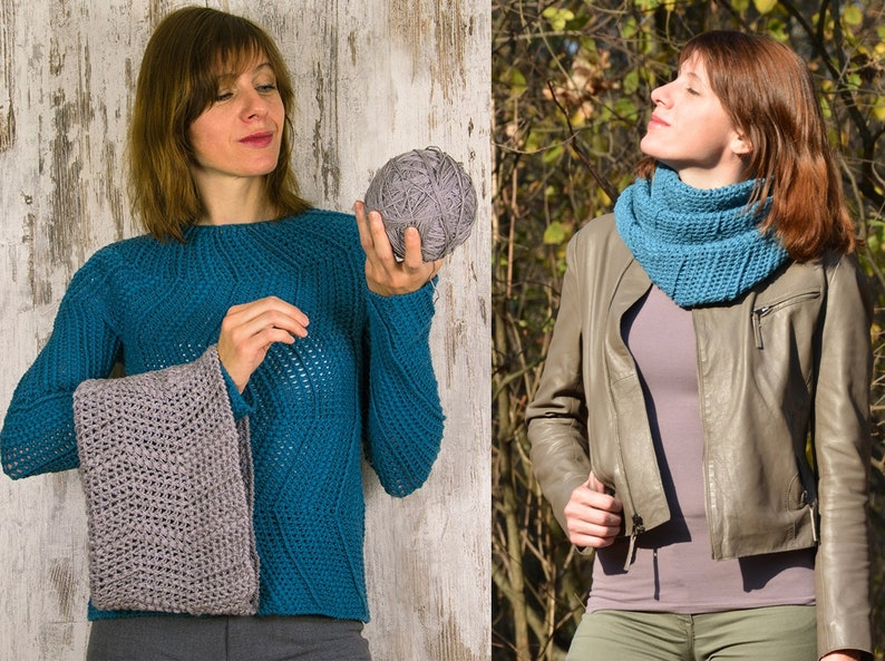 Women men child sizes: crochet cowl PATTERN crochet image 0