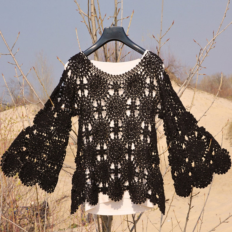 Trendy crochet top PATTERN crochet TUTORIAL in English only image 1