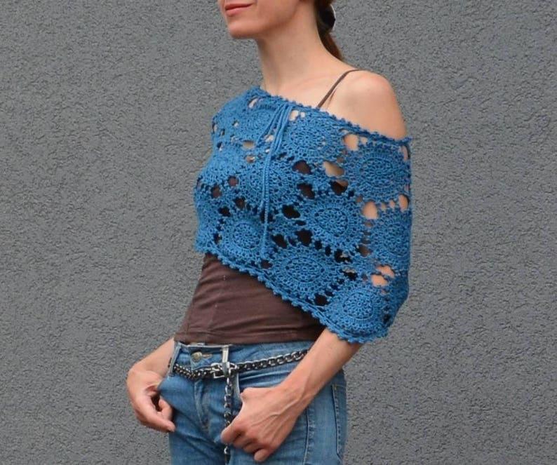 Crochet poncho PATTERN sizes S-2XL crochet TUTORIAL in image 0