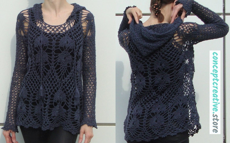 Trendy V-neck crochet top PATTERN written TUTORIAL in image 2