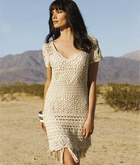 Vneck Crochet Dress PATTERN Sizes S60XL Crochet TUTORIAL Etsy Interesting Crochet Dress Patterns