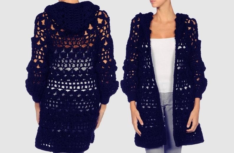 7eaedc8a8127d Crochet hoodie PATTERN sizes S-2XL crochet TUTORIAL for