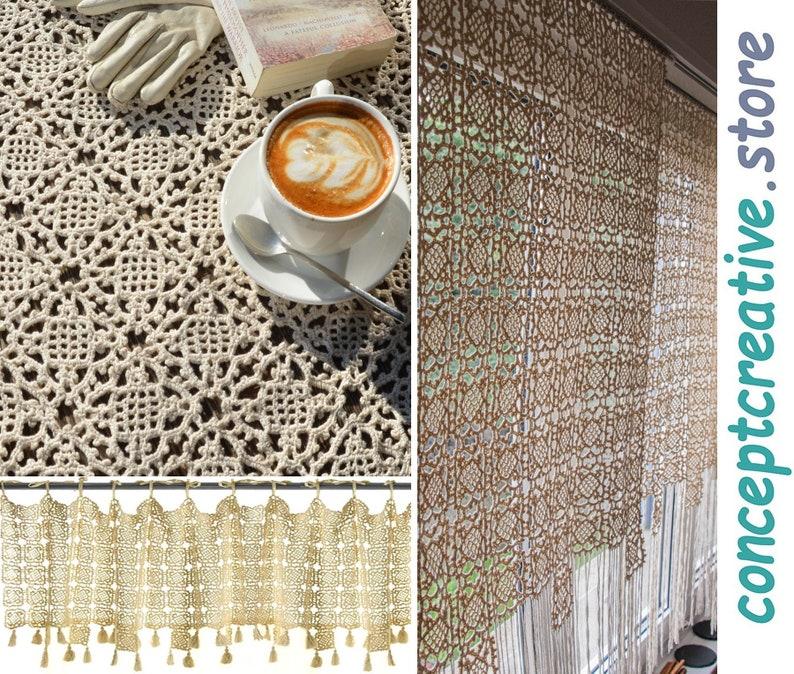 Modern crochet home decor: crochet Tablecloth PATTERN crochet image 0