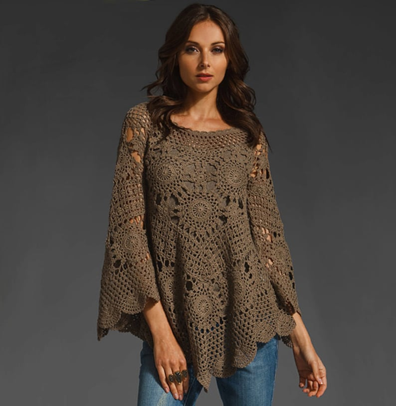 Trendy crochet top PATTERN crochet TUTORIAL in English every image 0