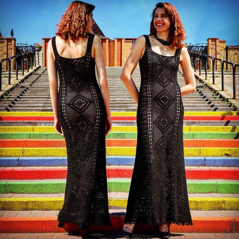 Maxi crochet dress PATTERN sizes xS-4XL crochet TUTORIAL in image 0