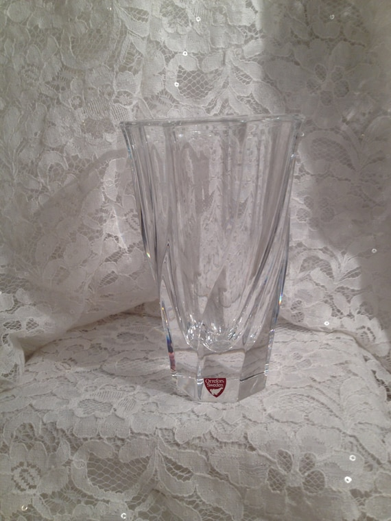 Reduced From 6150 To 30 Orrefors Sweden Crystal Vase In Etsy