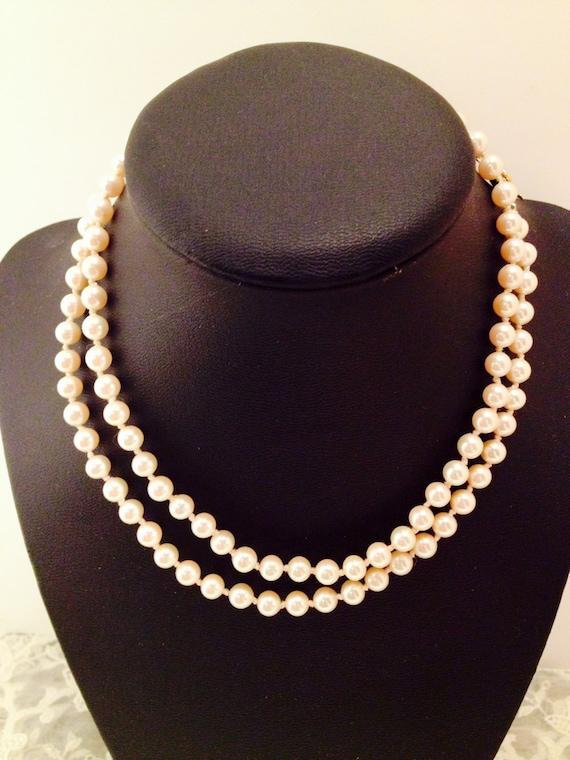 Beautiful Ivory Pearl Necklace Gold Filigree Clasp 14 Etsy