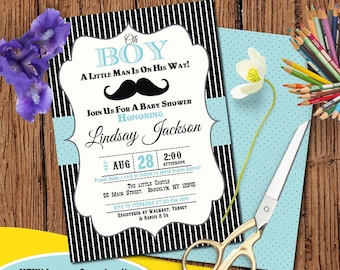 Mustache Baby Shower Etsy