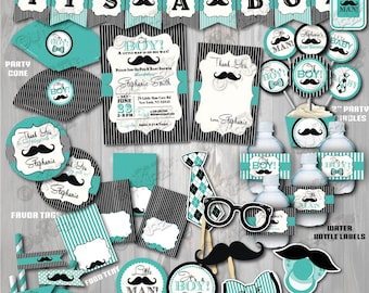 Mustache Baby Shower Etsy