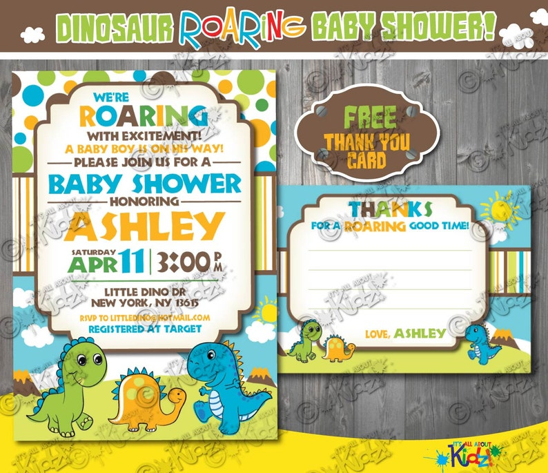 image regarding Free Printable Dinosaur Baby Shower Invitations named Printable Dinosaur Little one shower invitation-Dinosaur Child shower Invite-Dino Kid shower invitation-printable Dino Kid shower Invite