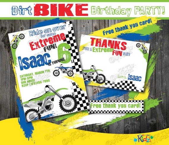 Dirt Bike Birthday Invitation DIY Party
