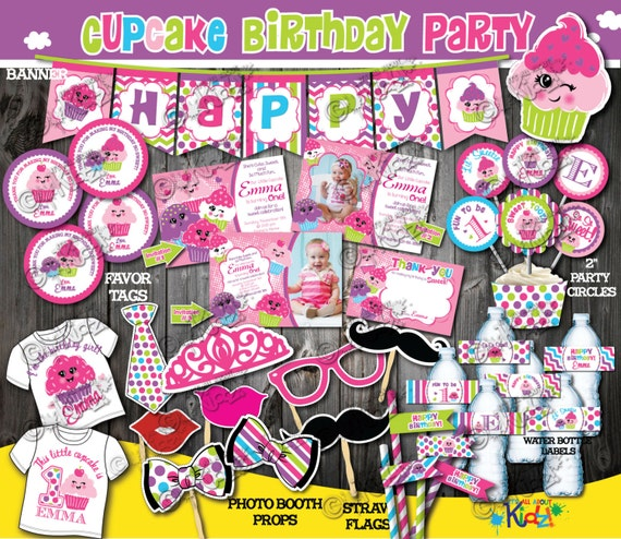 Cupcake Birthday Decoration Package First Decor 1st