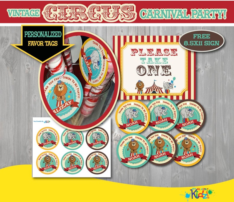 photo about Free Printable Please Take One Sign identified as Printable Circus Celebration Want Tags with Free of charge Indicator-Basic Circus Birthday-Initially Carnival Birthday-Carnival Celebration-Circus Get together Printable Tags