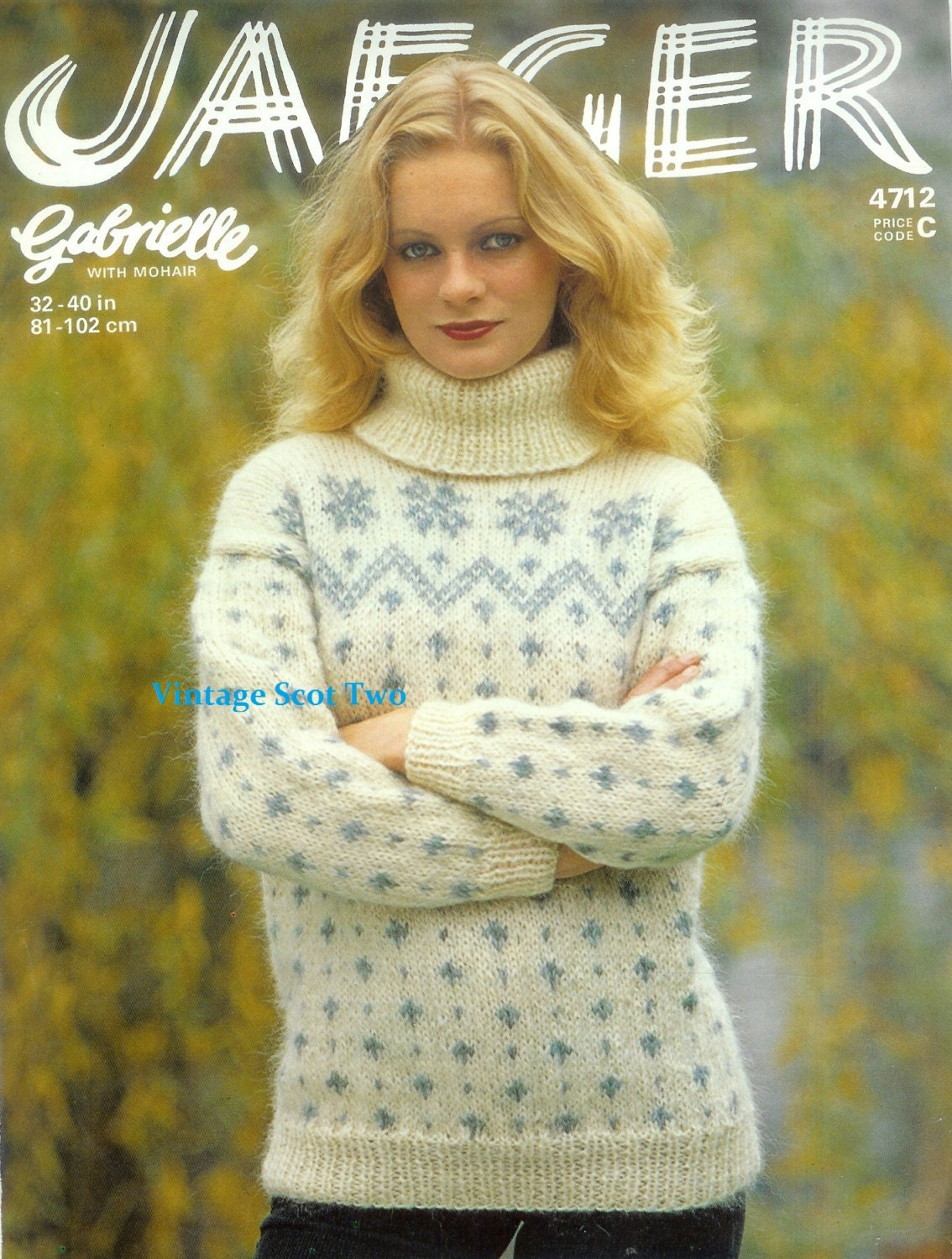 Knitting pattern of pullover from mohair with knitting needles. We will teach everyone to knit their own mohair pullover