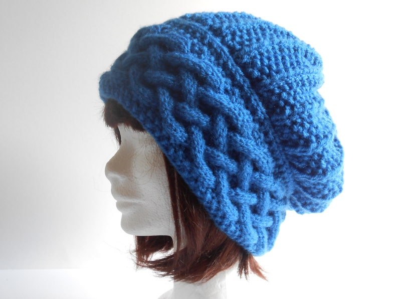 f6829dc21d3 Braided cable hat for Women. Hand knit cable beanie