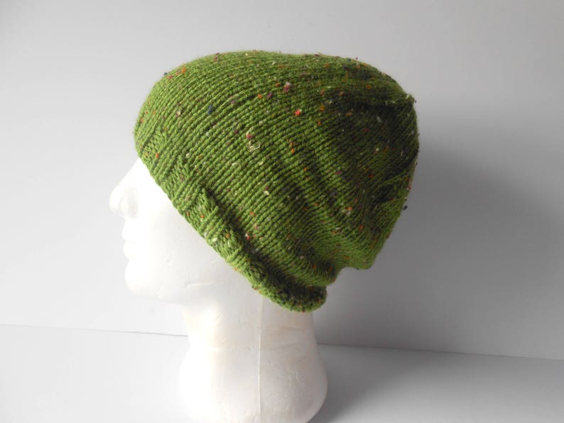 Handmade gift for him Irish knit cap Patrick/'s Day Hat Men/'s slouchy hand knit green beanie hat St Unisex slouchy Knitted toque hat.