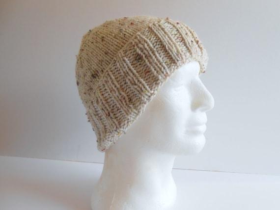 Mens 10 Deep Bobble Hat Full Clip Knit Warm Pom Pom Hat