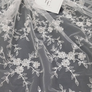 Wedding Lace,Lingerie Lace,Chantilly Lace K01002 Old Rose star embroidery base tulle with pearl,Lace Fabric,embroidery,French Lace