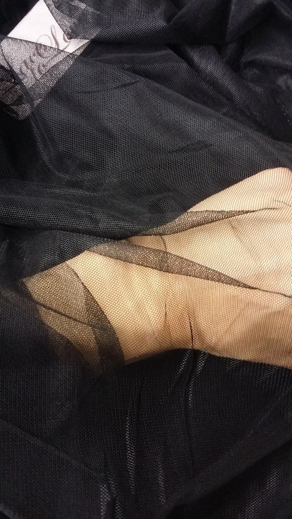Tissu de tulle noir, lingerie, tissu de tulle lingerie, noir, robe de soirée tulle - 55