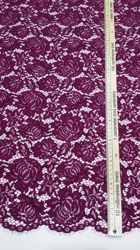Tissu Français dentelle violet par yard, Français Tissu dentelle, brodé dentelle dentelle de mariée mariage dentelle robe de soirée dentelle Lingerie dentelle Alencon dentelle J305201 1b0ec6