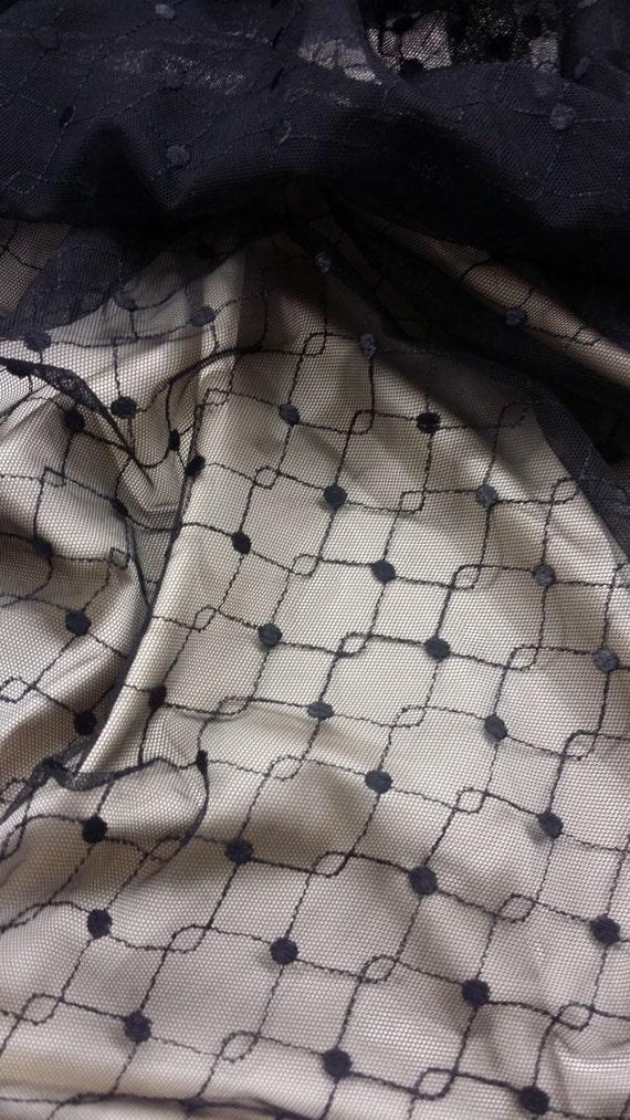 Tissu de noir, tulle noir, de tissu de tulle lingerie, robe de soirée tulle - 55