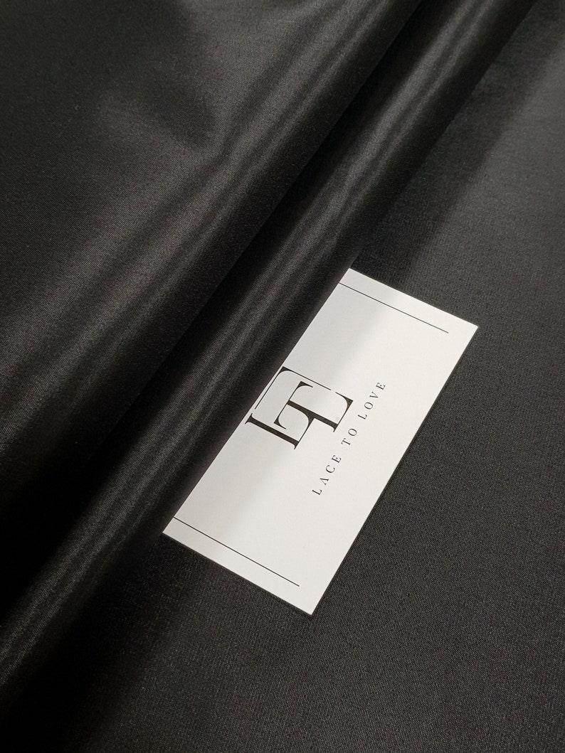 evening dress fabric Black elastic lining fabric by the yard GC3942/_4 lining skirt fabric