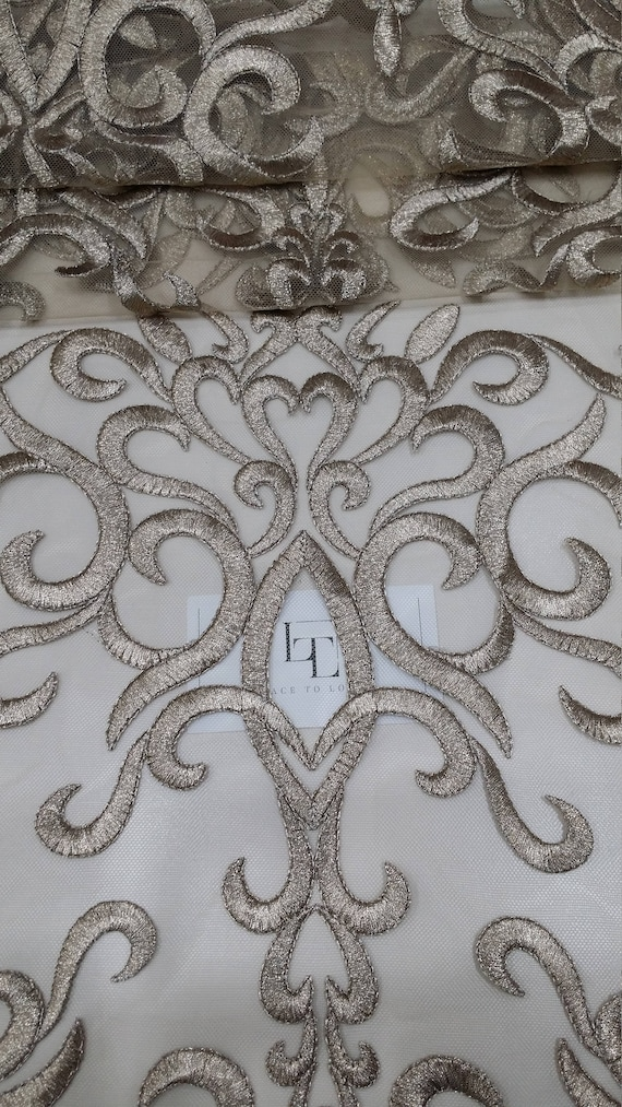 Or dentelle brodée en tissu, dentelle Français, brodé brodé Français, dentelle mariage dentelle, dentelle à l'amour de robe de soirée dentelle Lingerie dentelle Alencon dentelle LUX9124 4bec0b