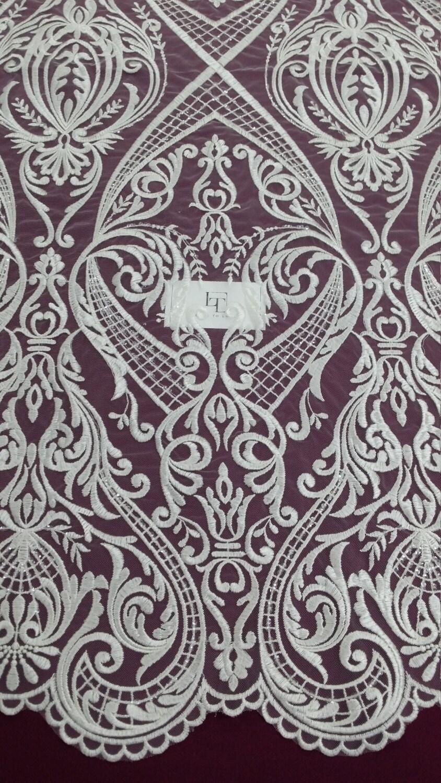Tissu en dentelle Ivoire avec des paillettes, Français dentelle, dentelle de d'Alençon, lac de jarretière de dentelle dentelle de mariée, mariage dentelle, perle dentelle dentelle Sequin dentelle perlée EVS072CS 87e886