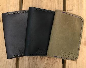 Leather Card Holder, Minimalsist Wallet, 2 Pocket