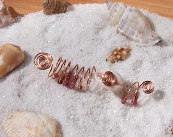 Rose Gold Beaded Dreadlock Jewelry