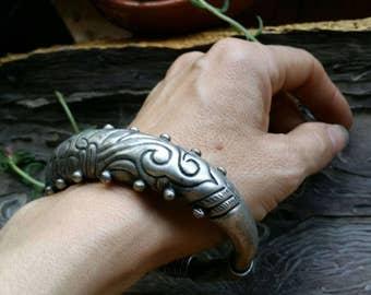 Tribal silver Hmong Miao bracelet