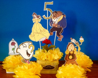 Beauty And The Beast Decorations Etsy