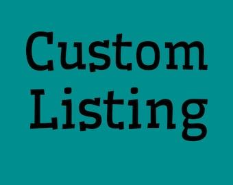 Custom listing for L. Conrad