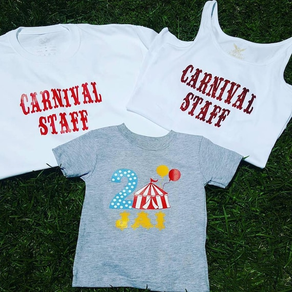 Carnival Family Shirts Circus Birthday Party