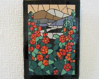 adde96d4d Mosaic wall art; handmade; landscape inspired by Louis C Tiffany
