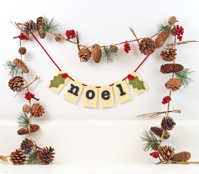 Noel Banner Christmas Garland Holiday Hostess Gift image 0