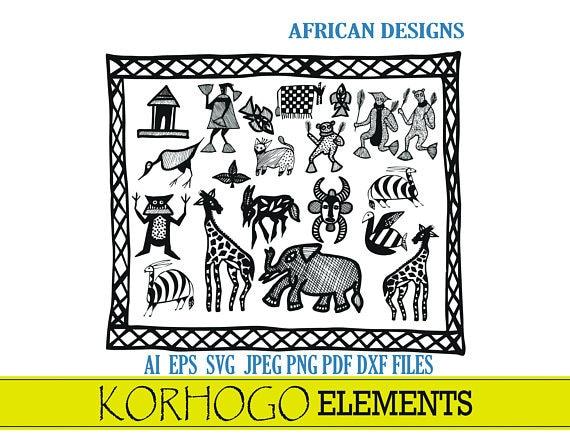 KOROGHO ELEMENTS patterns Africa digital files: ai jpeg png