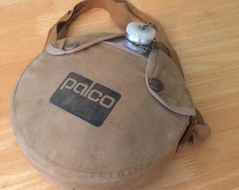 Vintage Palco Aluminum Canteen with Canvas Cover