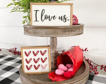 Valentine's Day Tiered Tray Signs