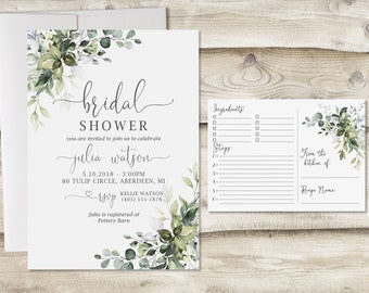 069aab4a733f Bridal shower invitation and recipe card