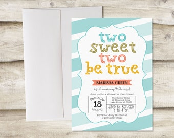 Twins Baby Shower Invitation, Twins Baby Sprinkle Invitation, Baby Shower Twins Invitation, Twin Boys Baby Shower, Twin Girls Baby Shower