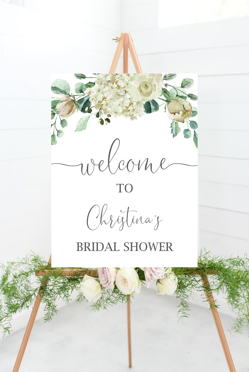 Digital Welcome Sign for Bridal Shower or Baby Shower Printable Wedding Shower Welcome Sign Wedding Welcome Sign Baby Shower Sign