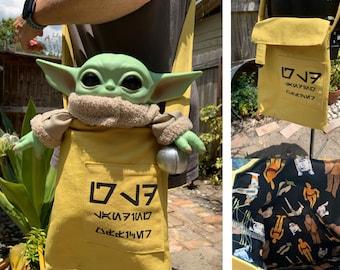 Star Wars Inspired Grogu Traveling Bag | Rose Tico Messenger Bag