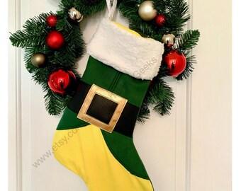 Buddy the Elf Movie Inspired Christmas Stocking