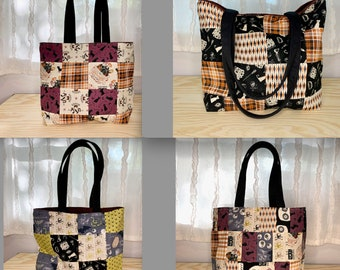 Hocus Pocus Reusable Tote Bag with Strap | Handmade Trick or Treat Bag | Halloween Bag