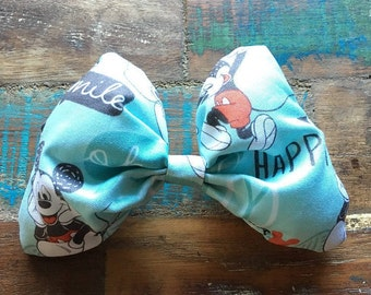 Handmade Mickey Mouse Dog Collar Bow Tie with Velcro Straps  | Classic Mickey Dog Bow