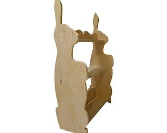 DIY Bunny Bookcase
