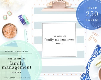 SALE! The Ultimate Home, Family, & Household Management Binder Kit - Printable PDF